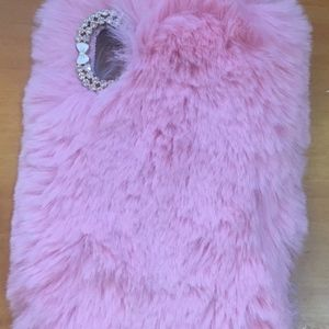 Accessories - PINK FAUX FUR I PHONE 10 CASE *NEW*